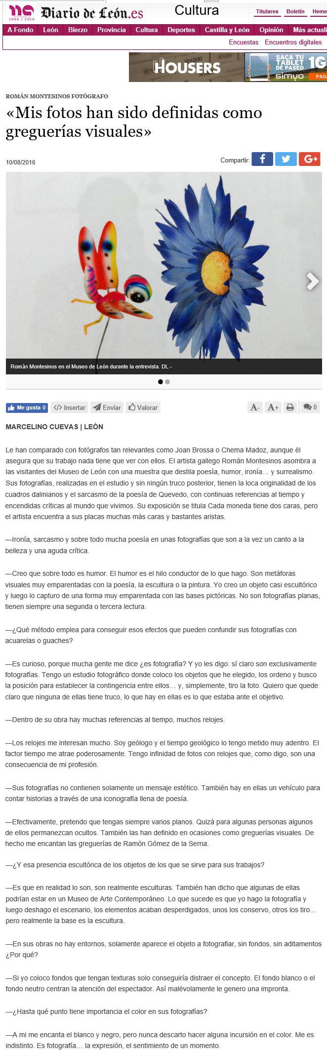 Diario de Leon entrevista 1
